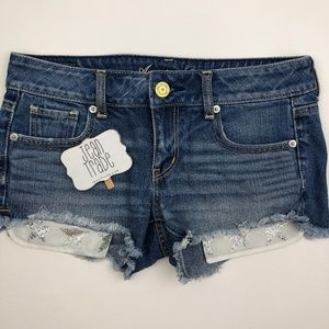 American Eagle Outfitters Shorts - American Eagle Cut Off Jean Shorts Star Pocket
